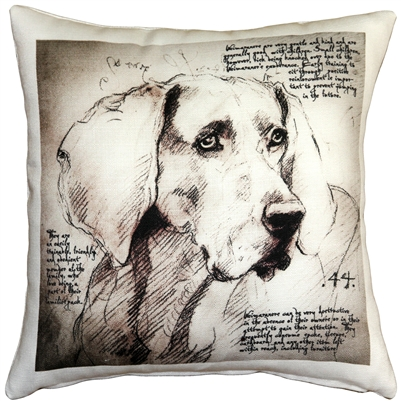 Weimaraner 17x17 Dog Pillow