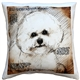 Bichon 17x17 Dog Pillow