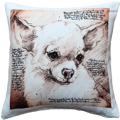 Chihuahua 17x17 Dog Pillow