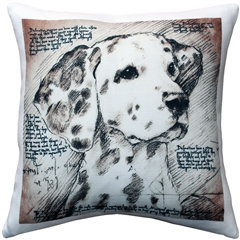 Dalmatian 17x17 Dog Pillow