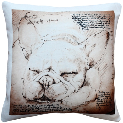 French Bulldog 17x17 Dog Pillow