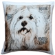 Mischievous Maltese 17x17 Dog Pillow