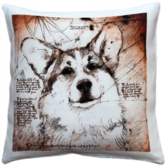 Pembroke Welsh Corgi 17x17 Dog Pillow
