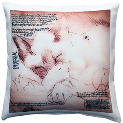 Sleeping Siamese Cat Pillow