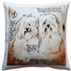 Havanese Duo Dog Pillow