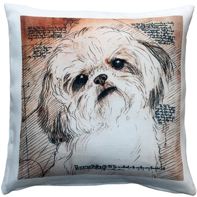 Shih Tzu Tilted Head Dog Pillow