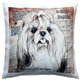 Shih Tzu Top Knot Dog Pillow