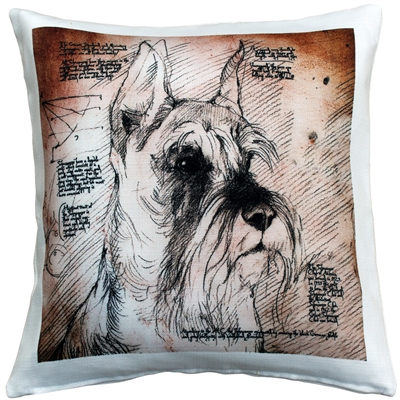 Schnauzer Cropped Ears Dog Pillow