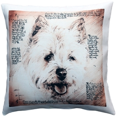 Cairn Male Dog Pillow