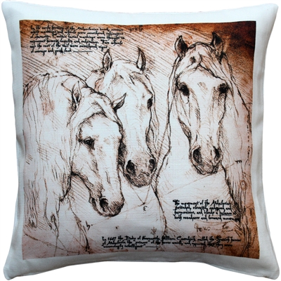 Andalusian Horses Throw Pillow