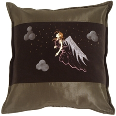 Fairy Throw Pillow Gwendolyn Green