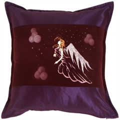 Fairy Throw Pillow Gwendolyn Purple