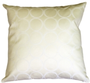 Lunar Circle Ivory Throw Pillow