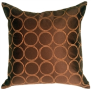 Lunar Circle Chocolate Throw Pillow