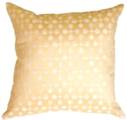 Atomic Flowers Vanilla Throw Pillow