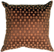 Atomic Flowers Chocolate Throw Pillow