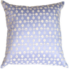 Atomic Flowers Light Blue Throw Pillow