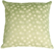 Snowflake Light Green Throw Pillow