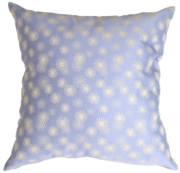 Snowflake Light Blue Throw Pillow