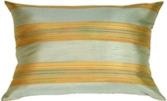 Soft Stripes Rectangular in Pale Blue Accent Pillow