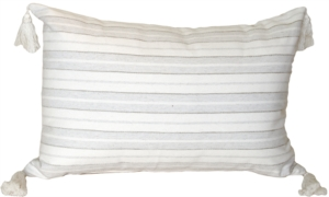 Cream and Neutral Stripes Rectangular Accent Pillow