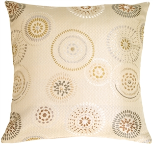 Cream Celebration Square Decorative Pillow