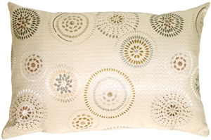 Cream Celebration Rectangular Decorative Pillow