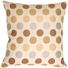 Cream Multicolor Dots Decorative Pillow