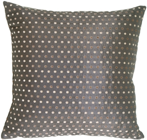 Linear Spots on Charcoal Decorative Pillow