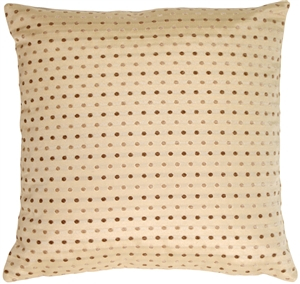 Linear Spots  on Cream Decorative Pillow