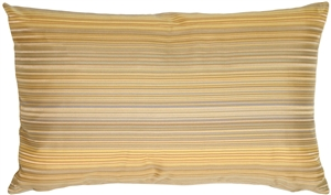 Beige Stripes Rectangular Decorative Pillow