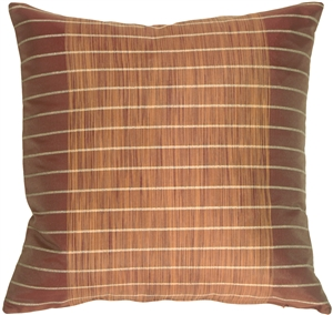 Wine Stripes and Strands Decorative Pillow
