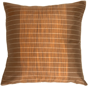 Brown Stripes and Strands Decorative Pillow