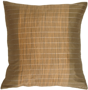 Bronze Stripes and Strands Decorative Pillow