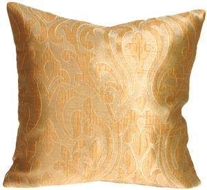 French Scroll in Copper Decorative Pillow