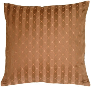 Manhattan Stripes in Brown Square Throw Pillow