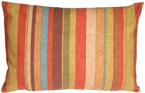 Rustic Multicolor Stripes Rectangular Throw Pillow