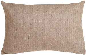 Herringbone Brown Rectangular Decorative Toss Pillow