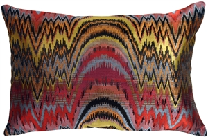 Alchemy Multicolor Rectangular Decorative Toss Pillow
