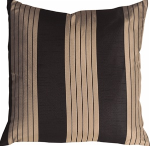 Contemporary Stripes in Black and Beige Throw Pillow
