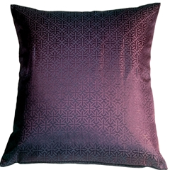 Geometric Floral Purple 20x20 Throw Pillow