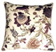 Highland Floral Cream and Purple 20X20 Throw Pillow