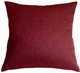 Urban Chic Burgundy Red 20x20 Throw Pillow