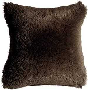 Soft Plush Brown 20x20 Throw Pillow