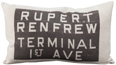 Rupert Bus Scroll Throw Pillow