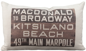 MacDonald Bus Scroll Throw Pillow