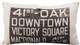 41st and Oak Bus Scroll Throw Pillow