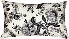 Tuscany Linen Floral Print 12x20 Throw Pillow