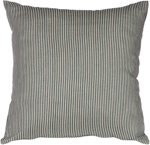 Ticking Stripe Wedgewood Blue 18x18 Throw Pillow