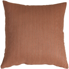Ticking Stripe Sienna 15x15 Throw Pillow